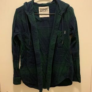 Plaid Hoodie button up from Garage